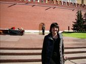 Me standing in front of the eternal peace flame that burns night and day in front of the Kremlin walls: by treefrog, Views[50]