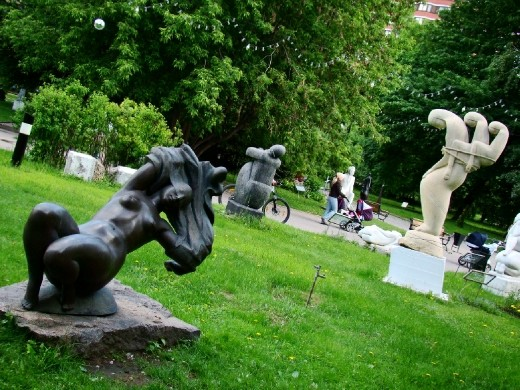 The park is filled with sculptures that have nothing to do with politics