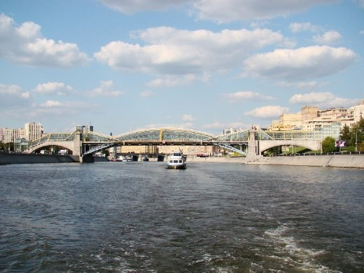 Starting our Moscow River cruise