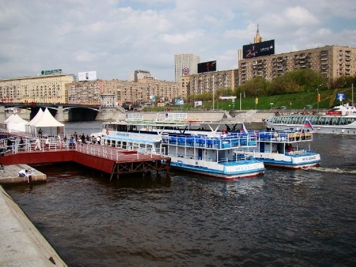 Kievskiy Vokzal where we got on the boat for the Moscow river cruise