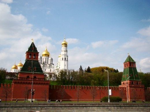 View of the Kremlin palace