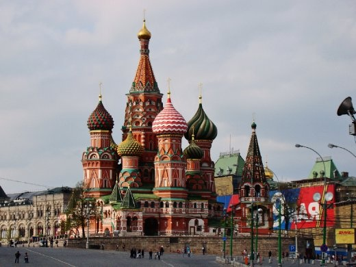 We also had a glance at St. Basil's Cathedral on the Red Square.