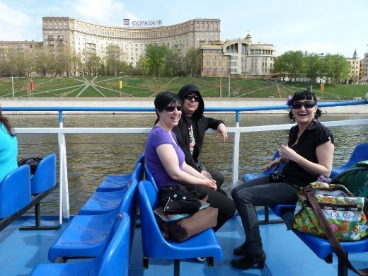 Me, Judith and Raphael on the boat cruise