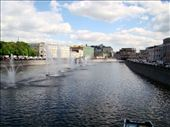 walking across this bridge and watching the water fountains in the river: by treefrog, Views[64]