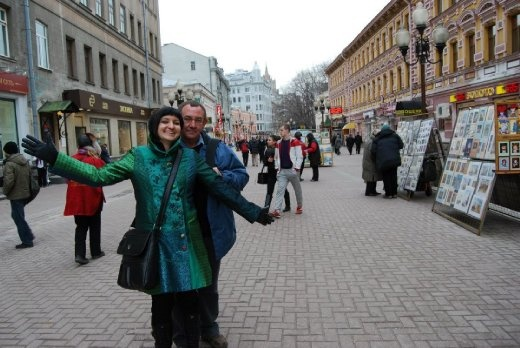 Me and my dad on Arbatskaya Street
