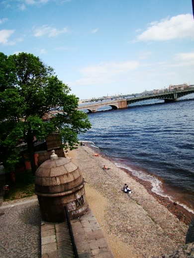 View of the Neva River from the walls
