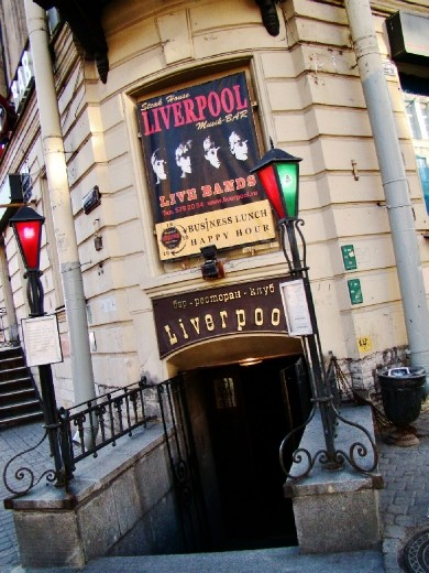 Pub named Liverpool!! The inside is filled with Photos of the Beatles
