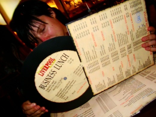 And the menu is actually on a record!!