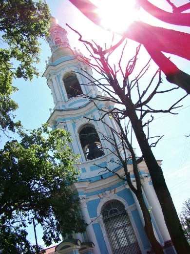 The oldest bell tower on Saint Petersburg