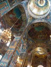 The inside of the church is covered in mosaic tiles depicting biblical scenes: by treefrog, Views[134]