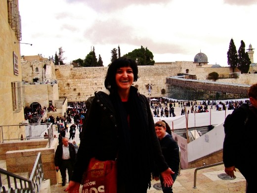 Me in front of the Western Wall