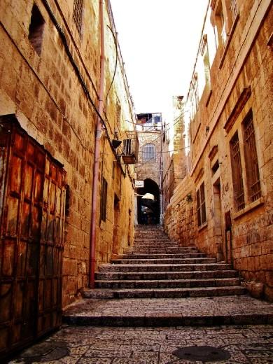 The narrow streets of Jerusalem