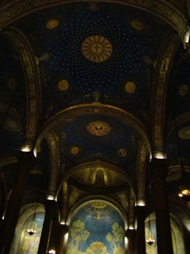 Inside the Church of Gethsemane,