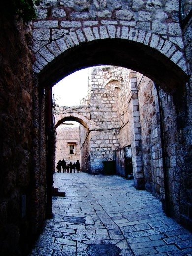 Walking through the Old city towards Zion's Gate