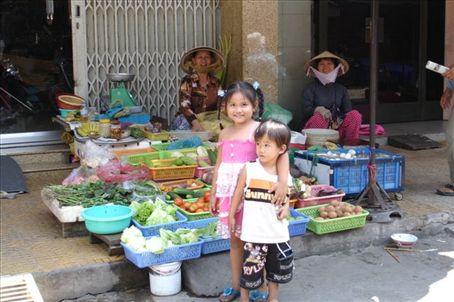 At the local market in Saigon