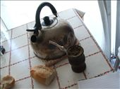 Essential Argentinian ingredients - Mate, boiling water and pan (bread): by treezy, Views[531]