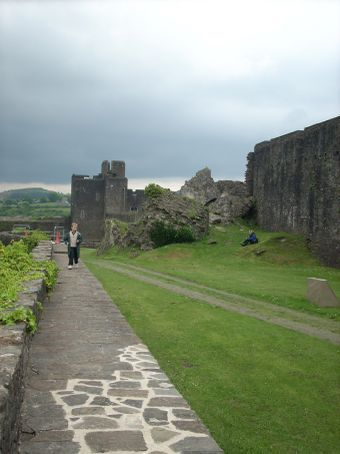 Pictures of Caerphilly Castle were included in the presentation done in preparation for the January Gerric workshop on Medieval history.