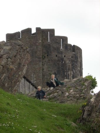 The boys just love climbing over castle ruins.