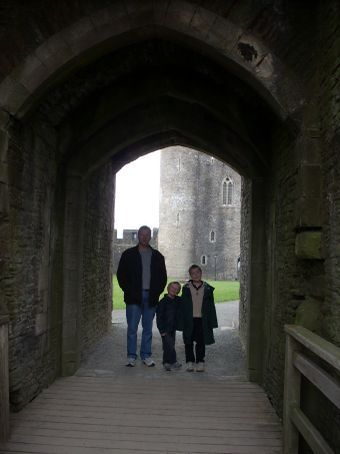 One of 5 entrances to the castle, previously blocked by a port cullis (gate).
