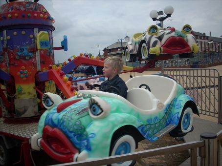 The paint work on the children's rides was fabulous! The rides were great beachfront sculptures.