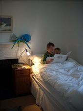 The boys settling down to sleep on our first night in Marazion: by tregenza_family, Views[133]