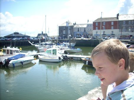 We ate our home made chicken sandwiches at the harbour in Padstow. We had been warned about the Padstow Seagulls