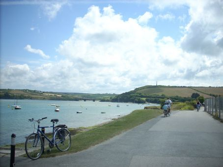 Ian and Tom leaving Padstow to cycle back to Wadebridge