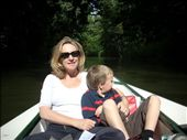 On the paddle boat, Hamish and Ian on the pedals while Tom and I relaxed.: by tregenza_family, Views[178]
