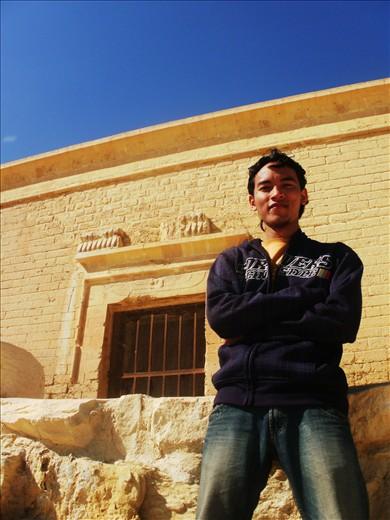 at Qarun Palace, the pent palace.