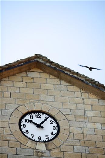 The clock of the main church in Pentalofos village.