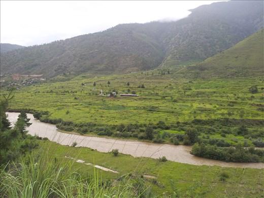 The Wancghu River View _ Wang valley_Thimphu_ August_2014