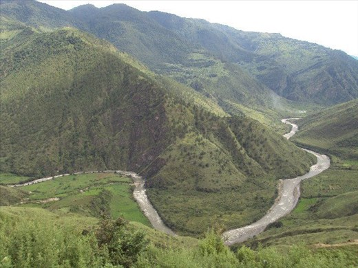 The DangmeChu River view_660MG proposed hydropower project_ Trashi yangtse_ Bhut