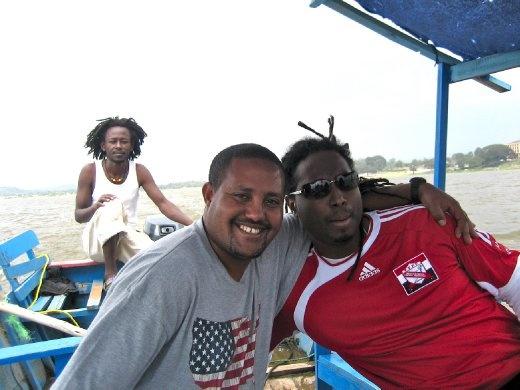 Addis (our local friend) & Newton