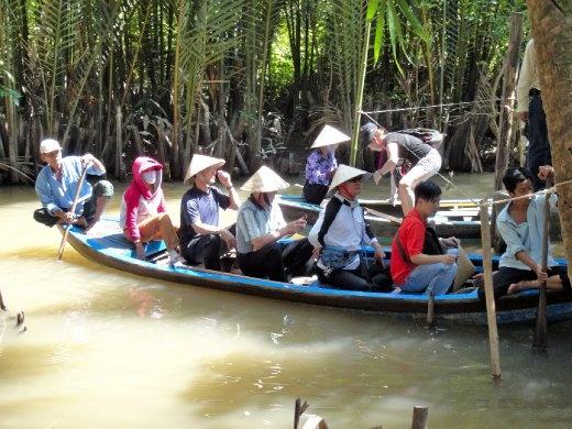 Rowboat ride thru the Mekong Delta