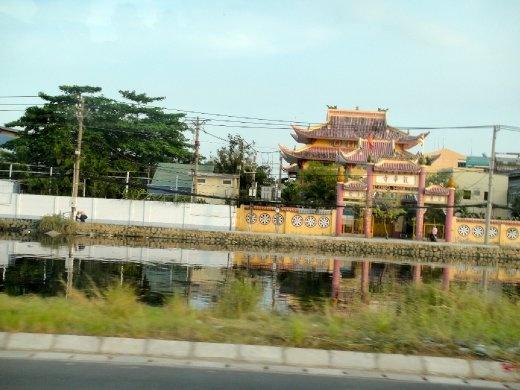 Coming back into Ho Chi Minh City along the Mekong River