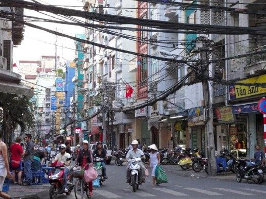 Backpacker area in HCMC