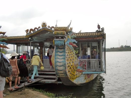 Dragon boat ride on the Perfume River