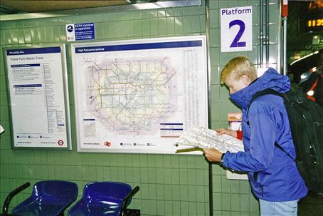 Scouting the underground map, London