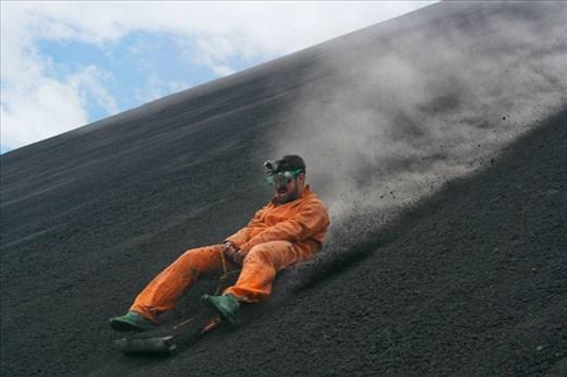 Me at 54km at Cerro Negro Volcano. (Nicaragua)
