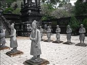 At the pagodas around Hue there were often monchs guarding the entrance. Nice!!: by utegute, Views[204]