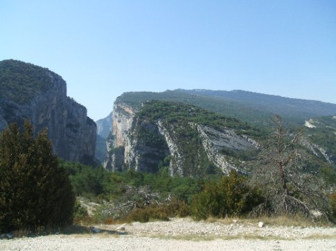 At the top of the Gorges of the Verdon