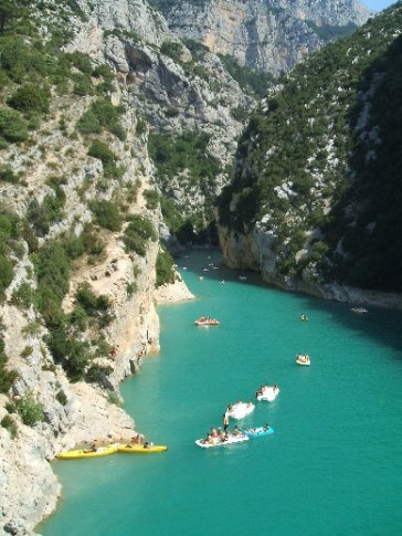 At Lac de Ste Croix at the end of the Gorges of the Verdon