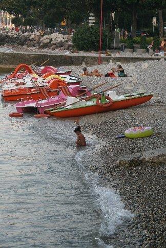 The lido at Desenzano del Garda at the southern end of Lago di Gardo