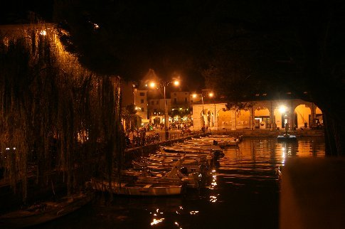The harbour at Desenzano del Gardo at night