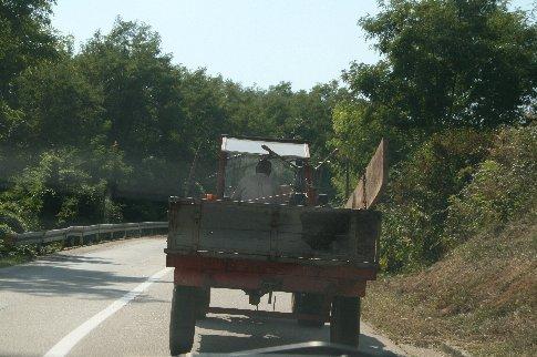 Typical traffic in rural Croatia
