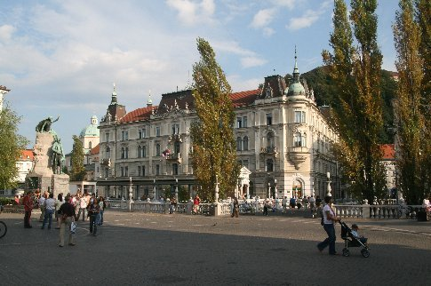 Ljubljana's old town is a beautiful part of the world.