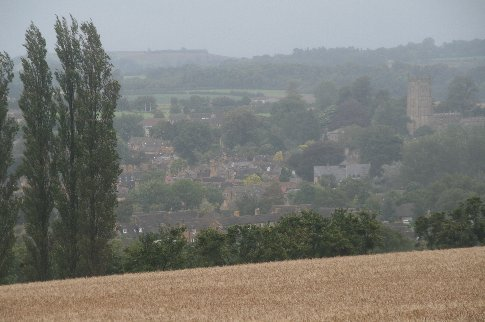 Chipping Campden from afar and through the same 'soft' weather