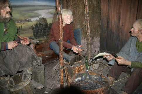 Recreation of part of the 1000 year old Viking town called Jorvik