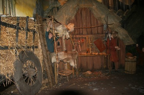 The leather tanner at work in Jorvik