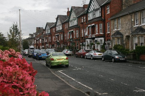 Typical 'row houses' in York - nearly all B&B establishments!
